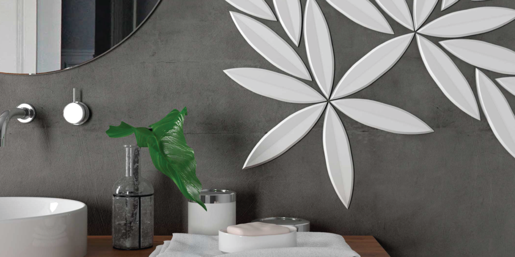 WOW 3D wall tile from Trinity Surfaces.