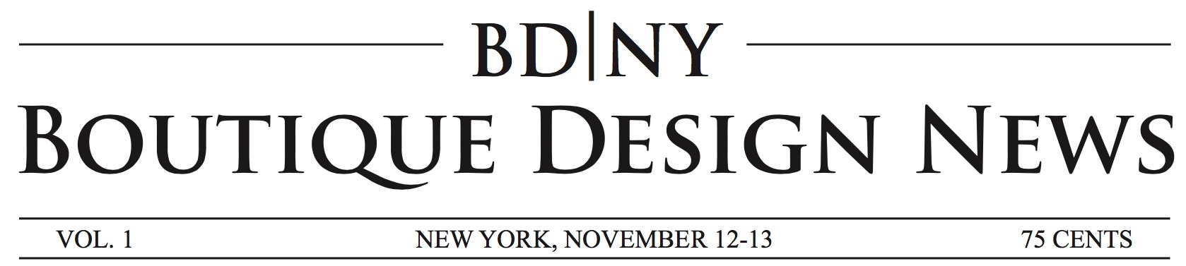 BD|NY - BDNY Boutique Design Trade Fair Newspaper