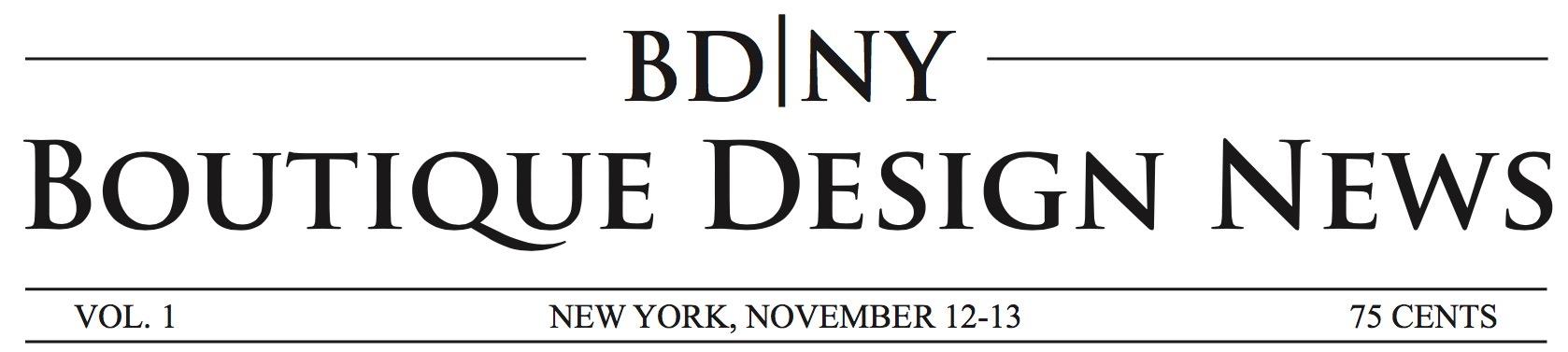 BD|NY - BDNY Boutique Design Trade Fair Newspaper