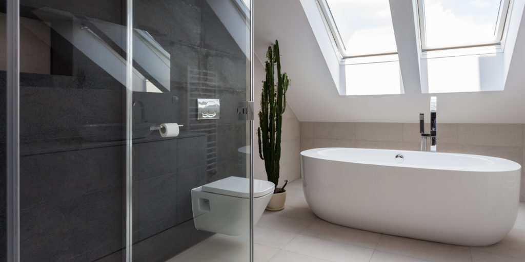 Porcelain tile bathroom. Why you should use porcelain tile from Trinity Surfaces